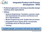 integrated product and process development ippd
