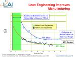 lean engineering improves manufacturing