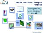 modern tools from concept to hardware