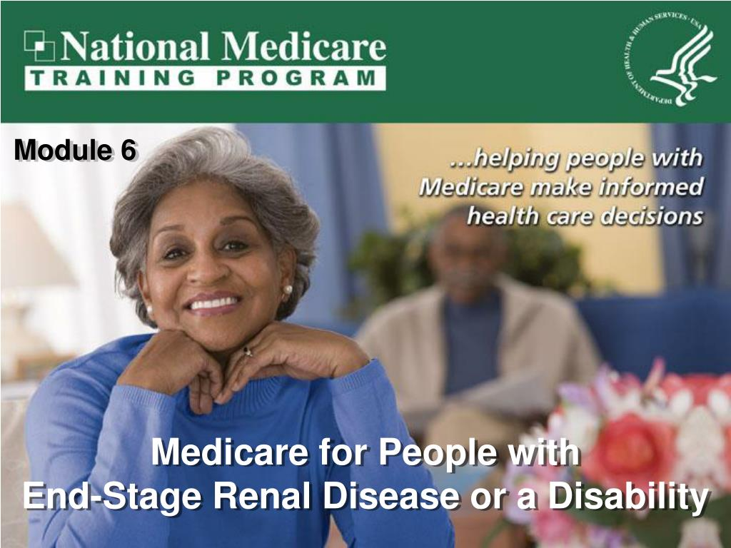 medicare for people with end stage renal disease or a disability