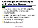 advantages disadvantages of projection display
