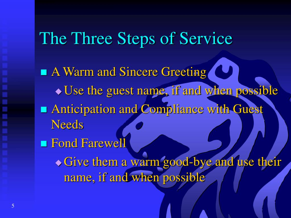 The Three Steps of Service