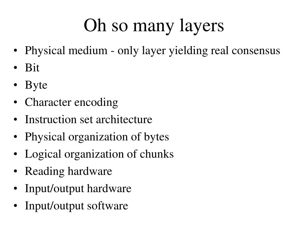 Oh so many layers