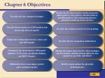 chapter 6 objectives