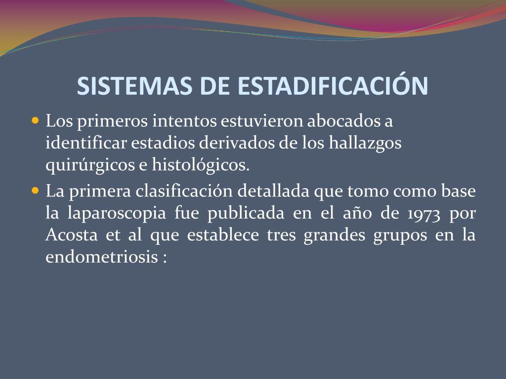 SISTEMAS DE ESTADIFICACIÓN