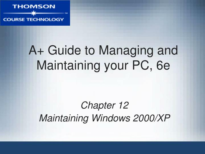 a guide to managing and maintaining your pc 6e n.