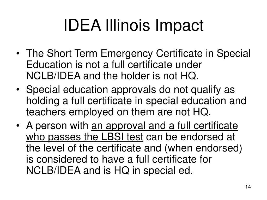 IDEA Illinois Impact