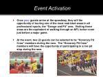 event activation1
