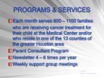 programs services