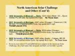 north american solar challenge and other cont d