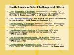 north american solar challenge and others