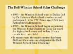 the dell winston school solar challenge