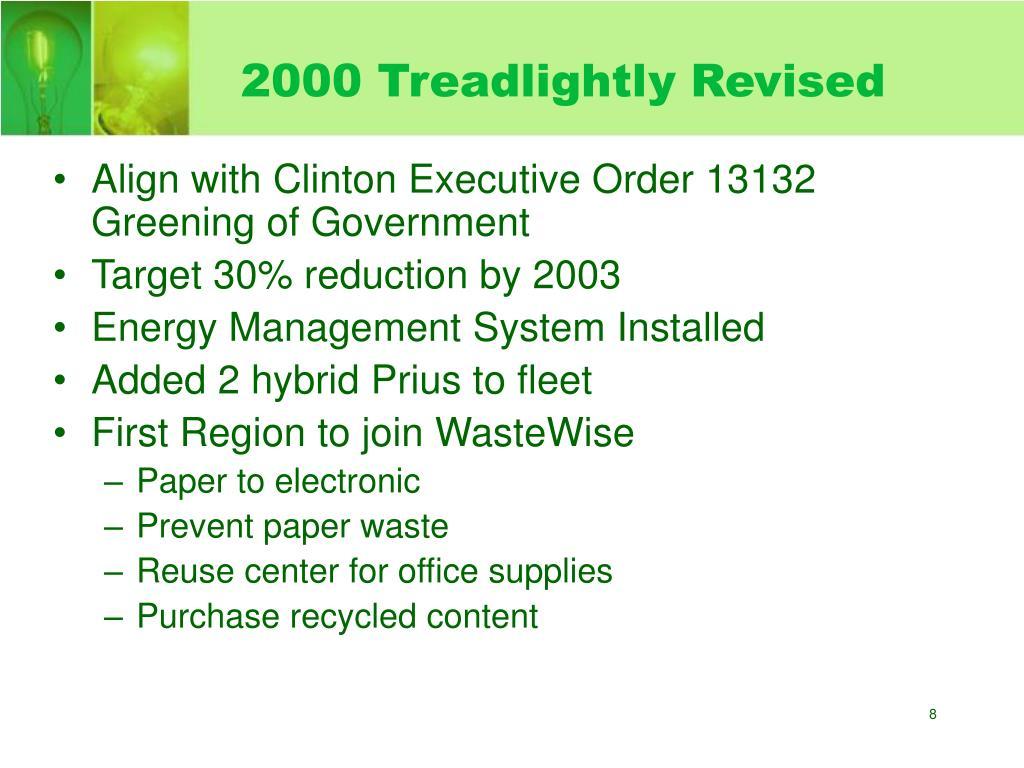 2000 Treadlightly Revised