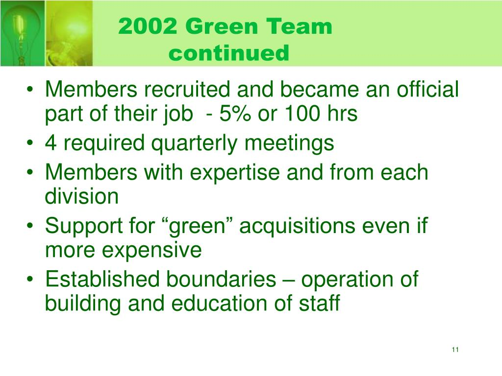 2002 Green Team continued