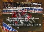 race specifics