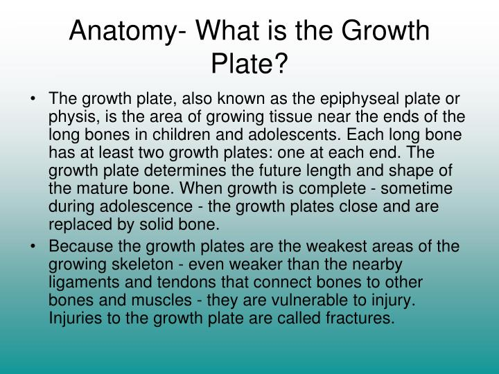 Ppt Growth Plate Injuries Powerpoint Presentation Id304064