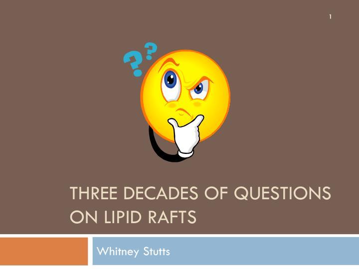 three decades of questions on lipid rafts n.