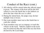 conduct of the race cont