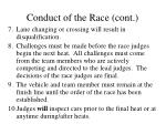 conduct of the race cont16