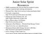 junior solar sprint resources