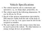 vehicle specifications