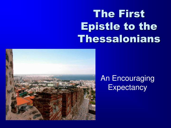 the first epistle to the thessalonians n.