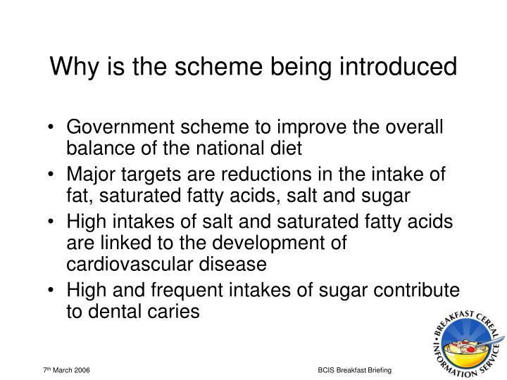 Why is the scheme being introduced