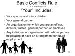 basic conflicts rule 5 c f r 2640 103 c 1 5 your includes