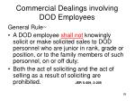 commercial dealings involving dod employees