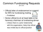 common fundraising requests jer 3 209