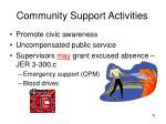 community support activities