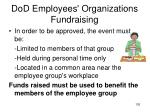 dod employees organizations fundraising