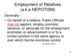 employment of relatives a k a nepotism