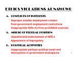 ethics violations at nawcwd7