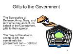 gifts to the government