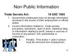 non public information153