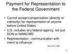 payment for representation to the federal government