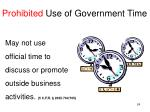 prohibited use of government time