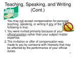 teaching speaking and writing cont