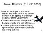 travel benefits 31 usc 1353