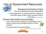 use of government resources144