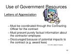 use of government resources145