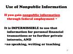 use of nonpublic information