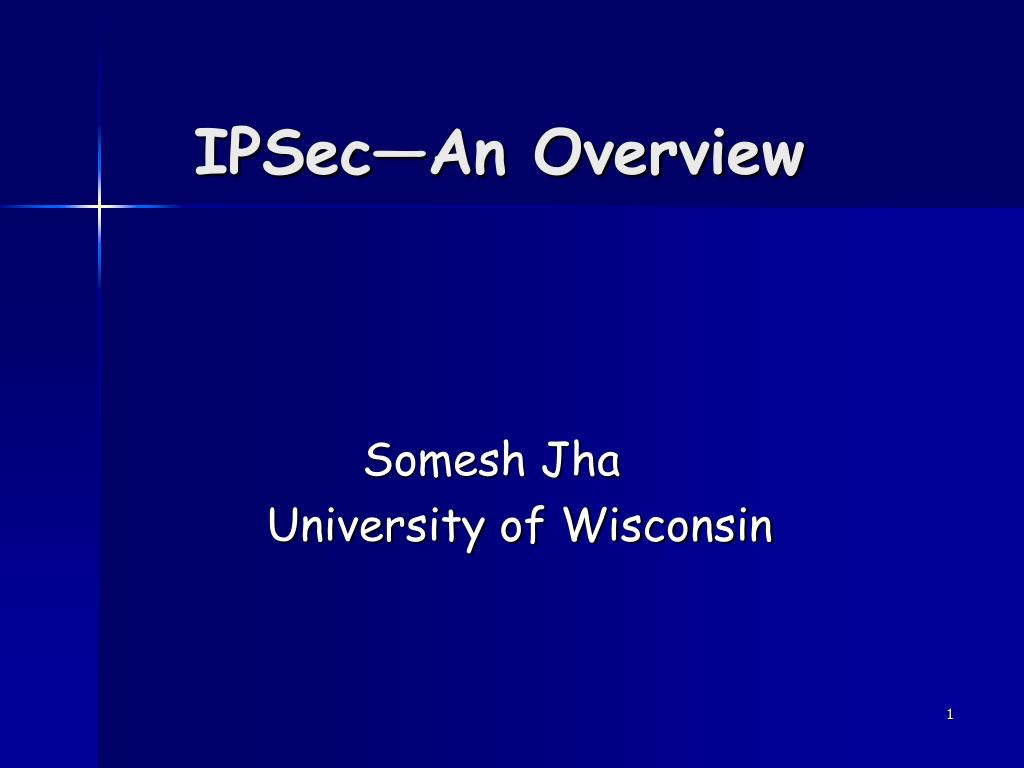 ipsec an overview l.
