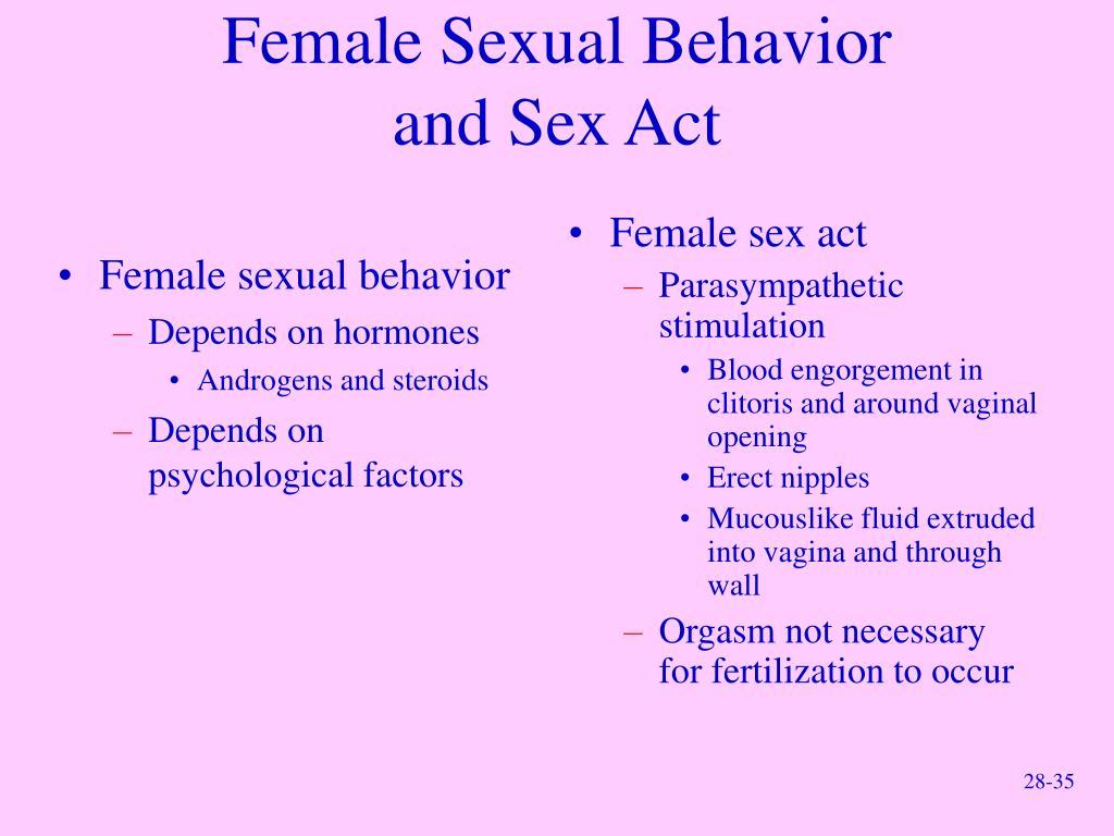 Female sexual behavior