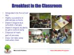 breakfast in the classroom