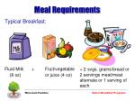 meal requirements