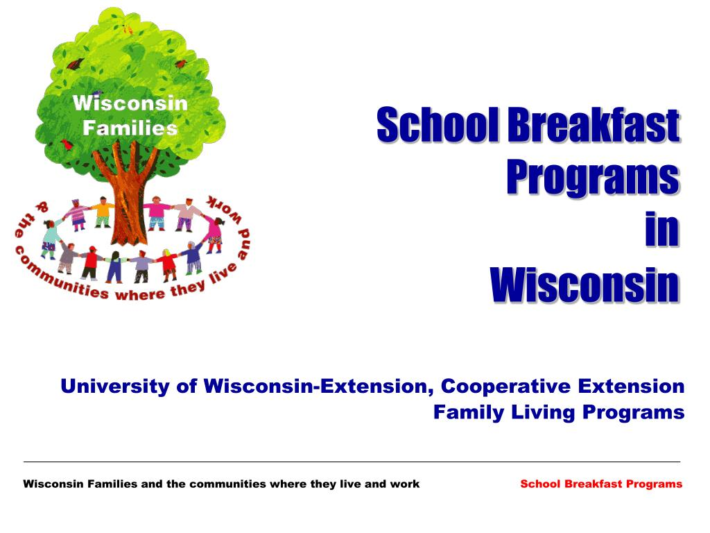 school breakfast programs in wisconsin l.
