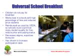 universal school breakfast