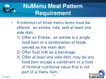 numenu meal pattern requirement